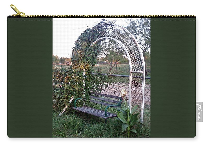 Seat Arch Carry-all Pouch featuring the photograph Take A Seat by Cindy New