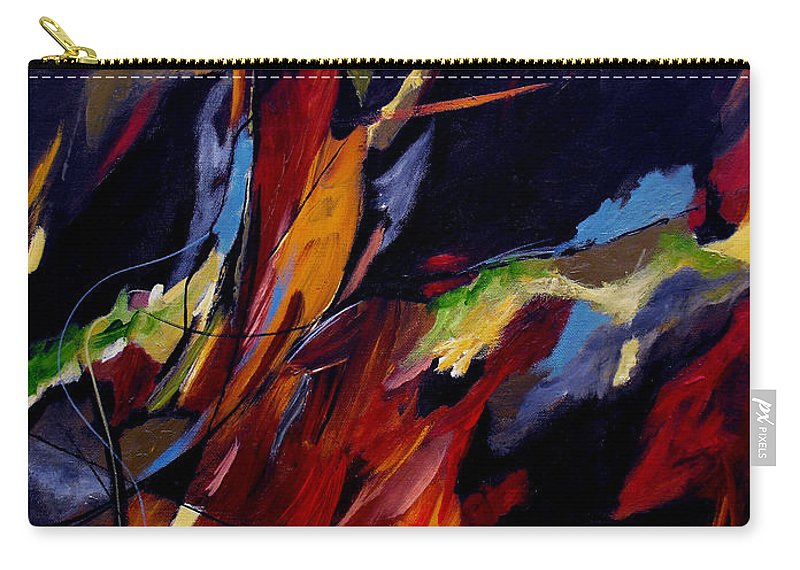 Abstract Carry-all Pouch featuring the painting Take Action by Ruth Palmer