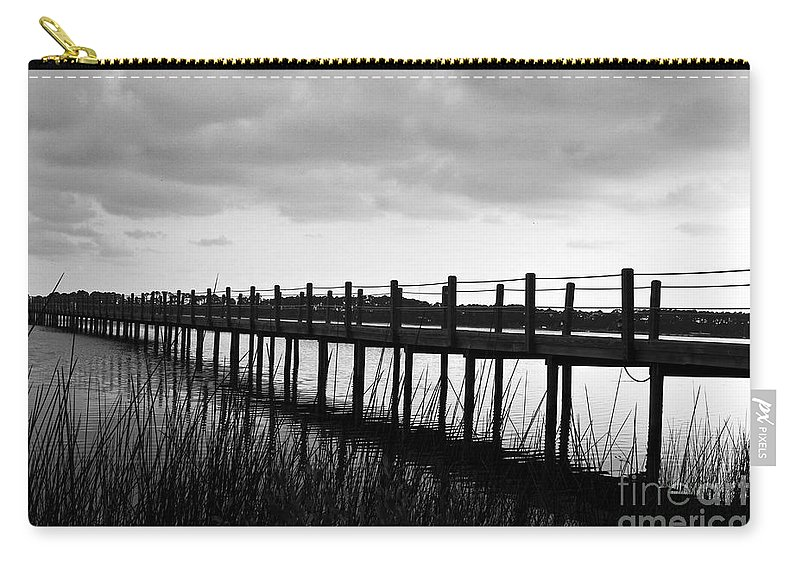 Black & White Carry-all Pouch featuring the photograph Take Me Away by Scott Pellegrin