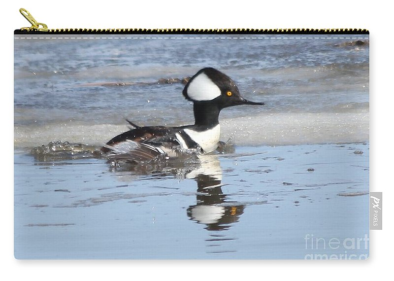 Hodded Carry-all Pouch featuring the photograph Take Off by Lori Tordsen