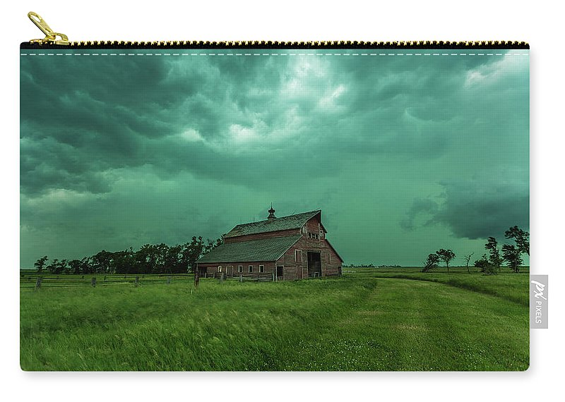 Take Shelter Carry-all Pouch featuring the photograph Take Shelter Again by Aaron J Groen