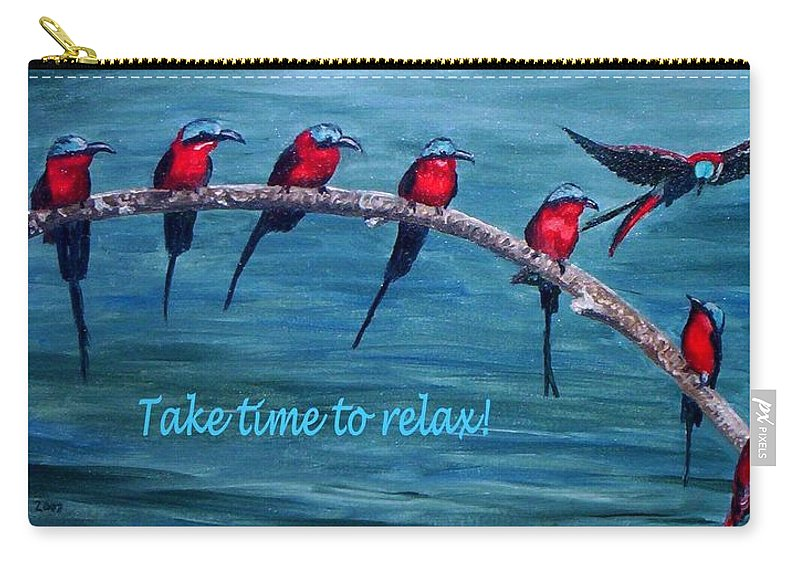 Relax Carry-all Pouch featuring the painting Take Time To Relax by Julie Brugh Riffey
