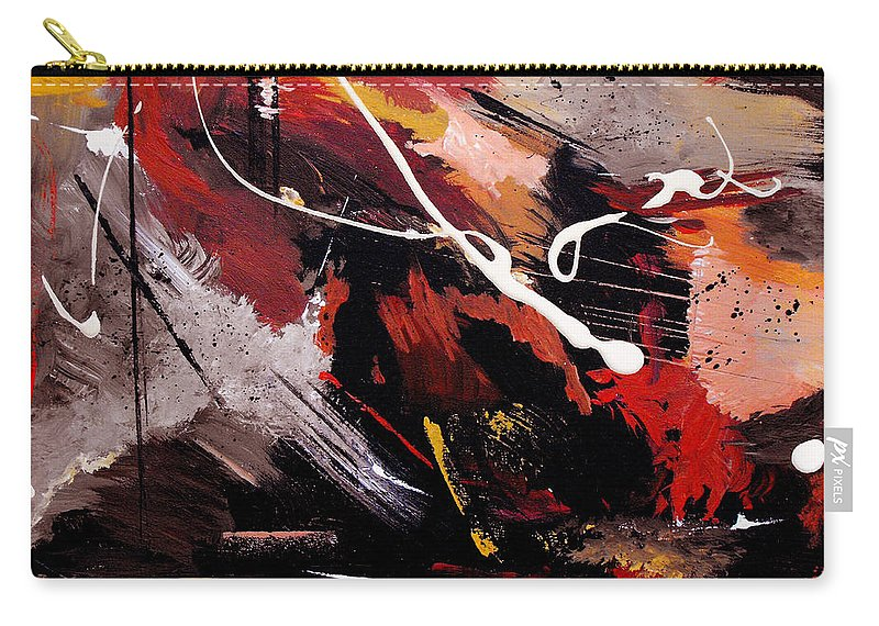 Abstract Carry-all Pouch featuring the painting Take To Heart by Ruth Palmer