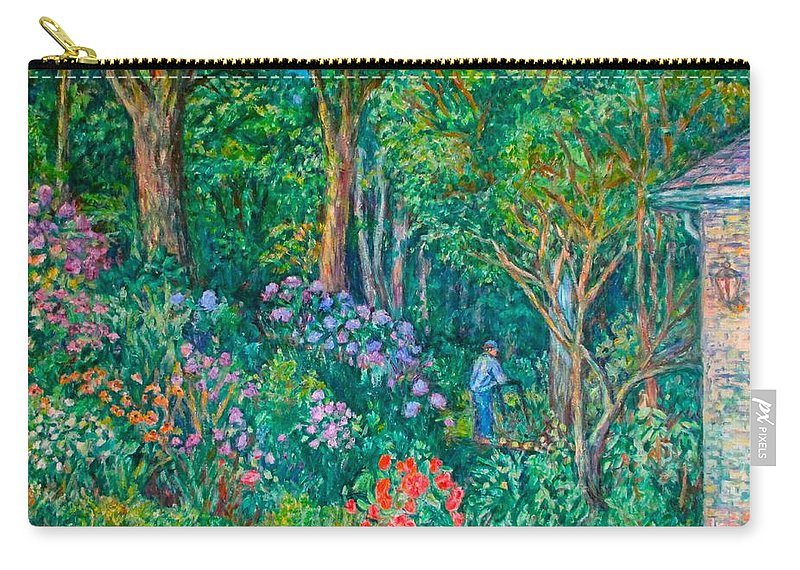 Suburban Paintings Carry-all Pouch featuring the painting Taking A Break by Kendall Kessler