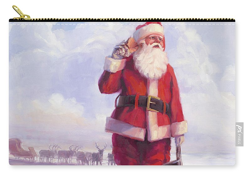 Christmas Carry-all Pouch featuring the painting Taking a Break by Steve Henderson