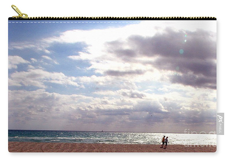 Walking Carry-all Pouch featuring the photograph Taking a walk by Amanda Barcon