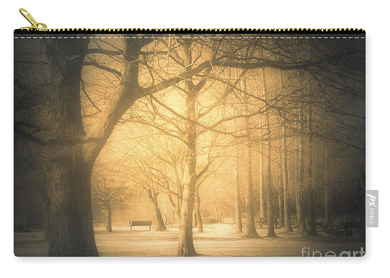 Sepia Carry-all Pouch featuring the photograph Taking Cover by Tara Turner