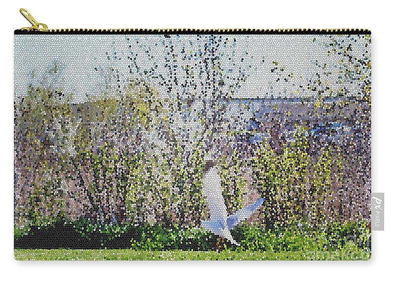 Nature Carry-all Pouch featuring the mixed media Taking Off by Don Baker
