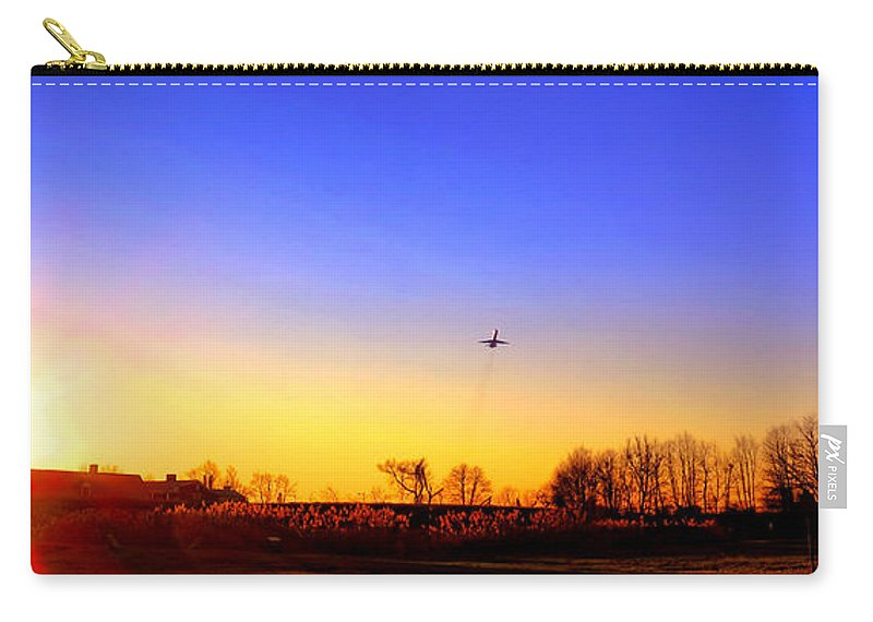 Jet Carry-all Pouch featuring the photograph Taking Off by Olivier Le Queinec