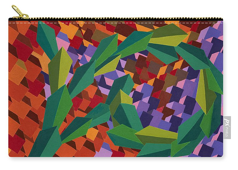Leaves Carry-all Pouch featuring the painting Taking The Long Way Down by Sean Corcoran