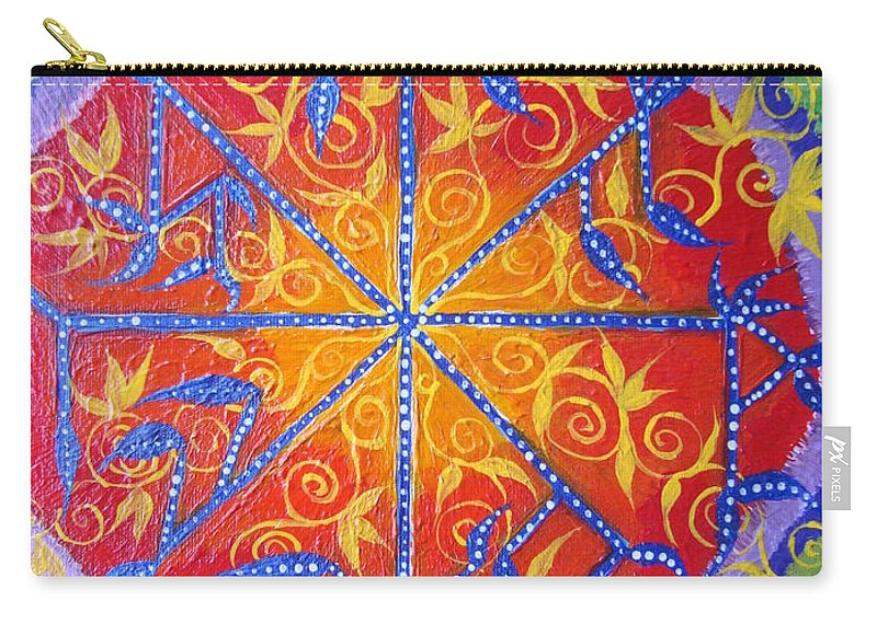 Symbol Carry-all Pouch featuring the painting Talisman by Joanna Pilatowicz