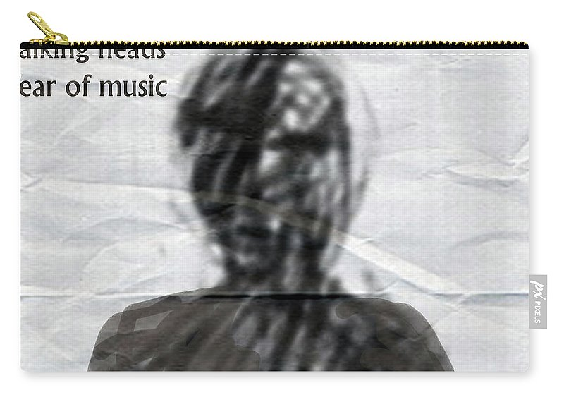 David Byrne Carry-all Pouch featuring the mixed media Talking Heads Fear Of Music by Enki Art