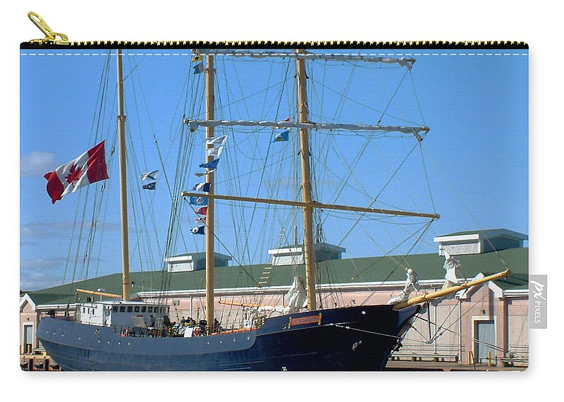 Dock Carry-all Pouch featuring the photograph Tall Ship Waiting by RC DeWinter