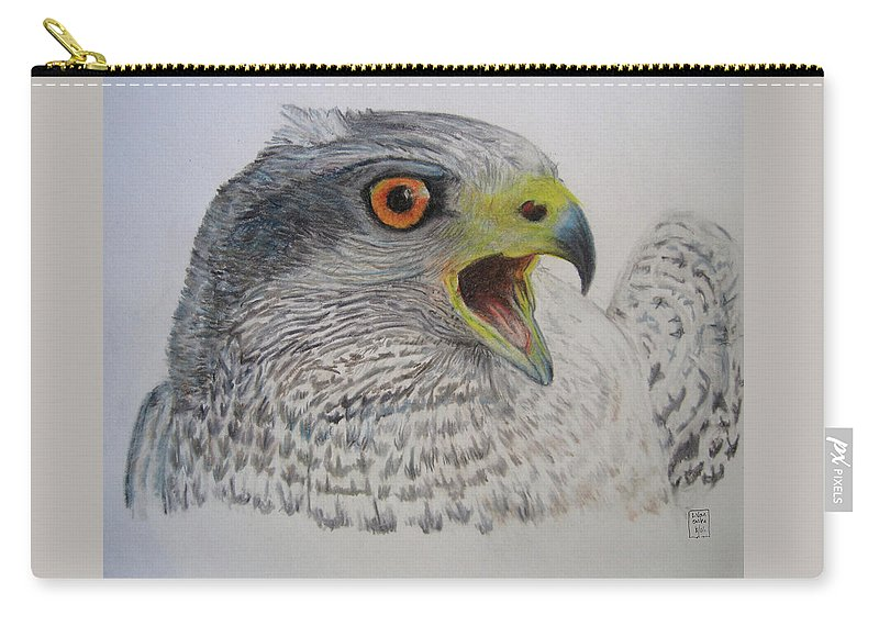 Carry-all Pouch featuring the drawing Talon by Lucien Van Oosten