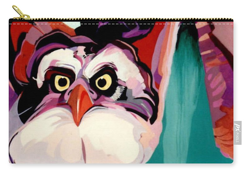 Raptor Carry-all Pouch featuring the painting Talons Down by Marlene Burns