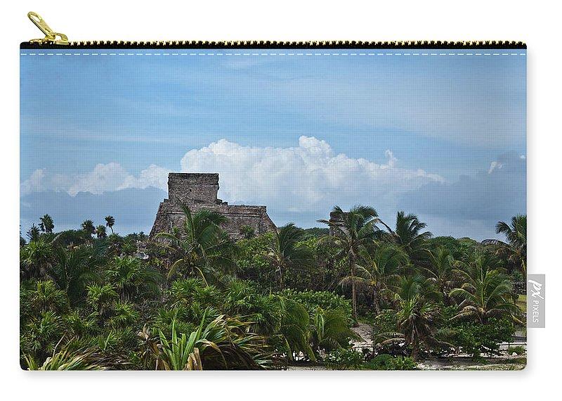 Tulum Ruins Carry-all Pouch featuring the photograph Talum Ruins 2 by Douglas Barnett