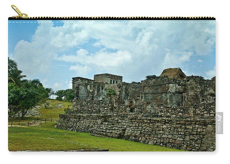 Tulum Ruins Carry-all Pouch featuring the photograph Talum Ruins 4 by Douglas Barnett