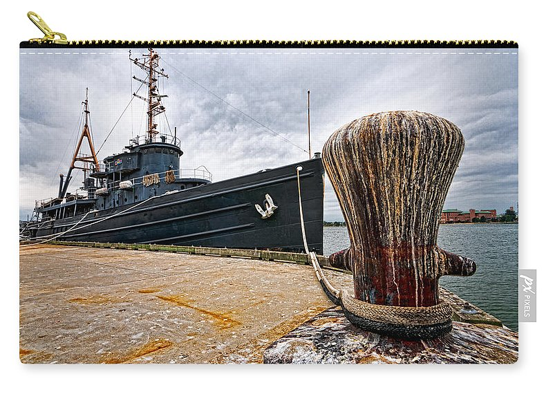 Carry-all Pouch featuring the photograph Tamaroa Zuni Berthed by Christopher Holmes