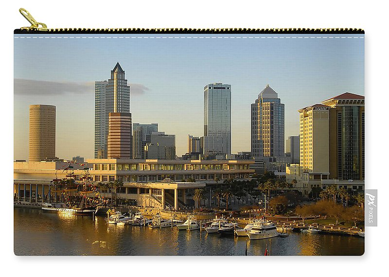 Tampa Bay Florida Carry-all Pouch featuring the photograph Tampa Bay And Gasparilla by David Lee Thompson
