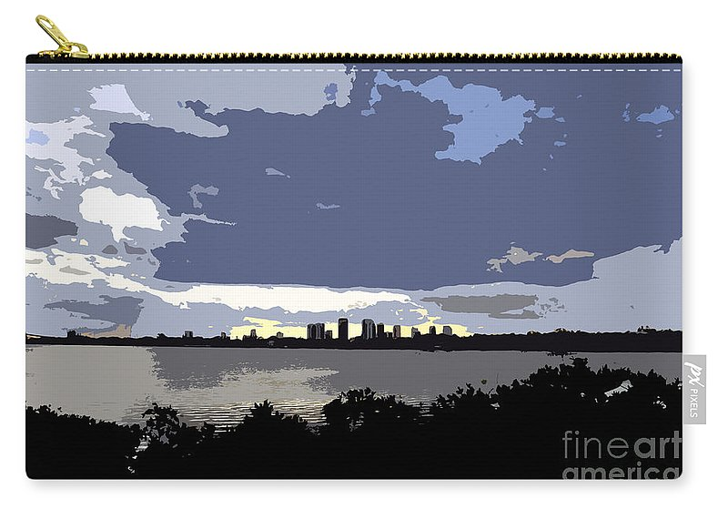 Tampa Bay Florida Carry-all Pouch featuring the painting Tampa Bay Work Number Three by David Lee Thompson