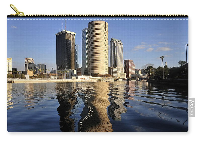 Tampa Bay Florida Carry-all Pouch featuring the photograph Tampa Florida 2010 by David Lee Thompson