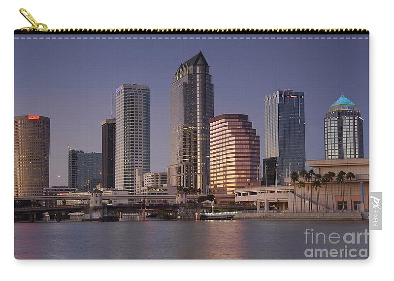 Tampa Florida Carry-all Pouch featuring the photograph Tampa Florida by David Lee Thompson