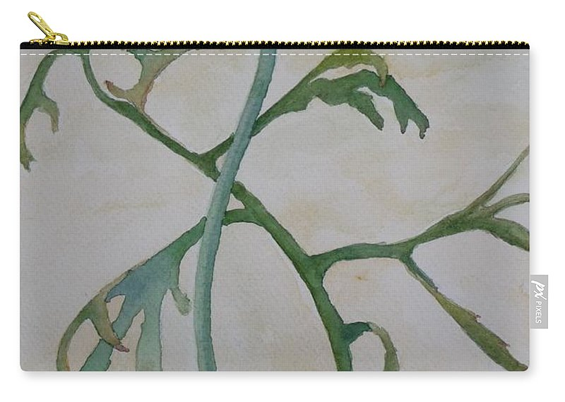 Flower Carry-all Pouch featuring the painting Tanacetum by Ruth Kamenev
