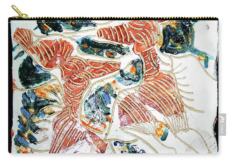 Mama Africa Twojesus Carry-all Pouch featuring the ceramic art Tandem Dance 5 by Gloria Ssali