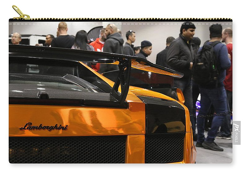 Lamborghini Carry-all Pouch featuring the photograph Tangerine Dream by Amy Stark