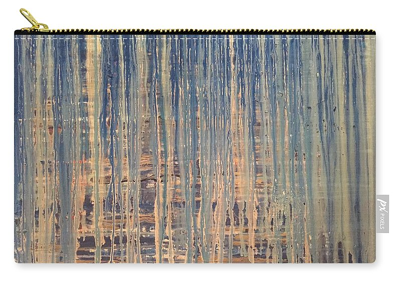 Tangled Carry-all Pouch featuring the painting Tangled Up In Blue by Edward Paul