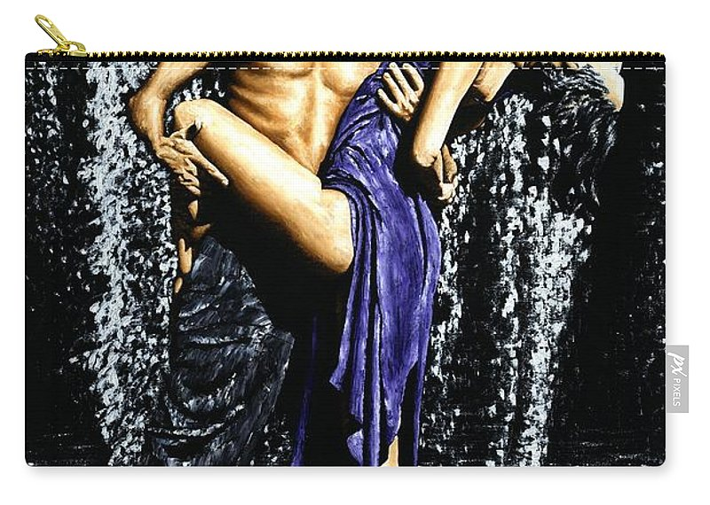 Tango Carry-all Pouch featuring the painting Tango Cascade by Richard Young