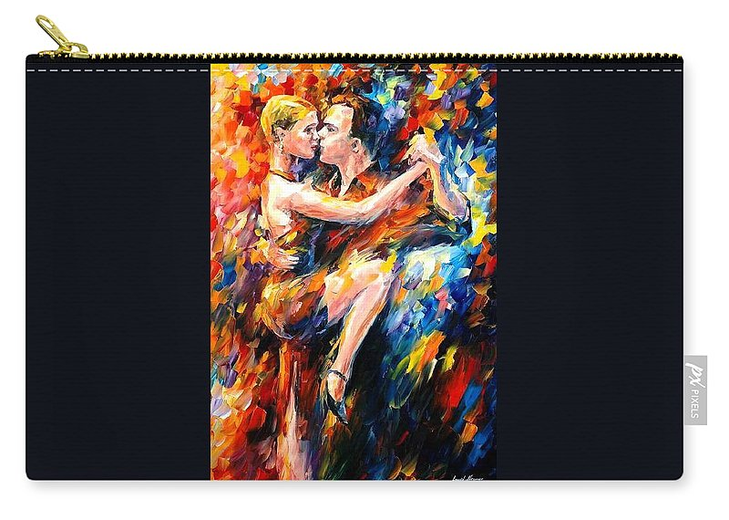 Dance Carry-all Pouch featuring the painting Tango Of Love  by Leonid Afremov