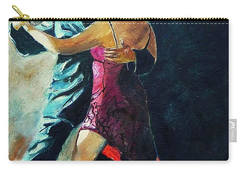 Tango Carry-all Pouch featuring the painting Tango by Pol Ledent
