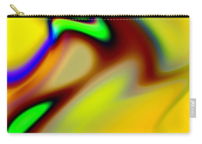 Abstract Carry-all Pouch featuring the digital art Tango by Ruth Palmer