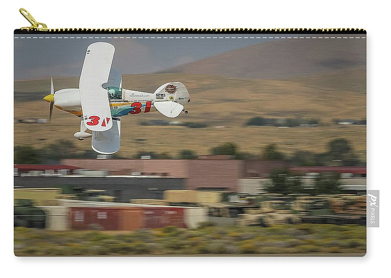 Bbiplaneclass Carry-all Pouch featuring the photograph Tango Tango 16x9 Aspect by John King