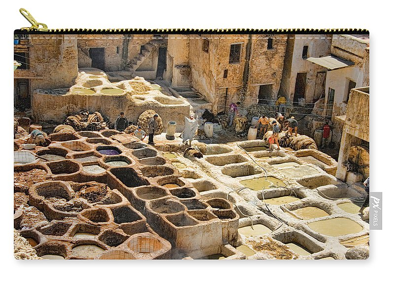 Fes Carry-all Pouch featuring the photograph Tanneries Of Fes Morroco by David Smith