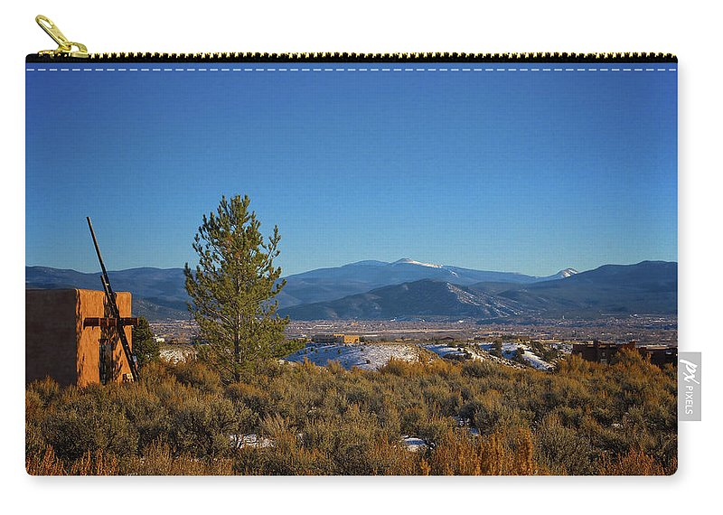 Santa Carry-all Pouch featuring the photograph Taos Valley by Charles Muhle