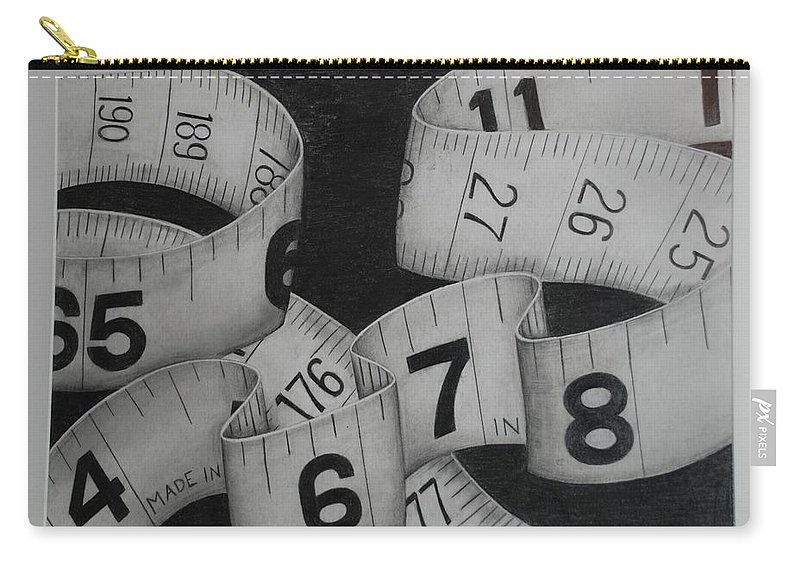 Numbers Carry-all Pouch featuring the photograph Tape Measure by Rob Hans