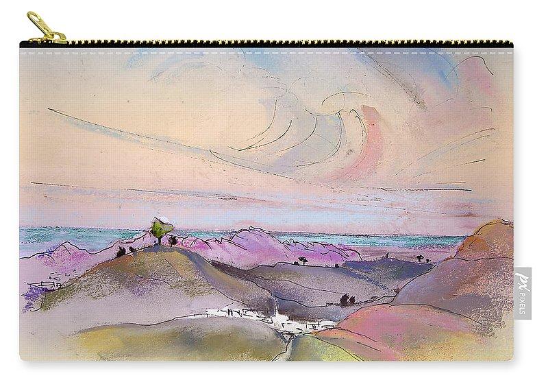 Tarbena Painting Carry-all Pouch featuring the painting Tarbena 07 by Miki De Goodaboom