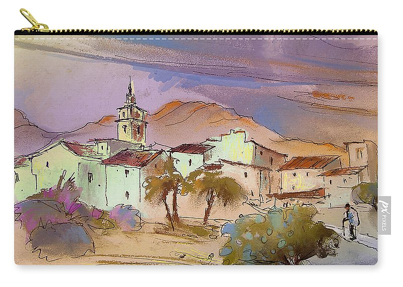 Tarbena Painting Carry-all Pouch featuring the painting Tarbena 08 by Miki De Goodaboom