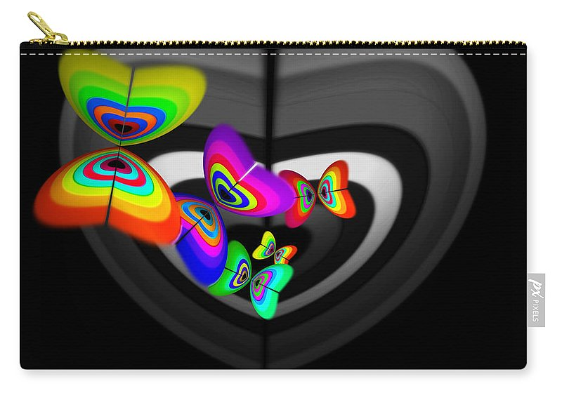 Loveheart Carry-all Pouch featuring the digital art Target Heart by Charles Stuart
