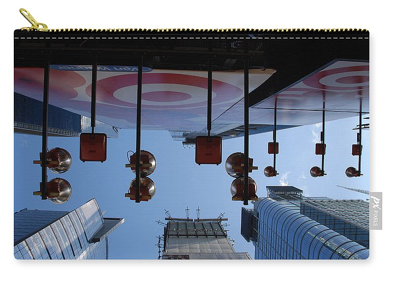 Architecture Carry-all Pouch featuring the photograph Target Lights by Rob Hans