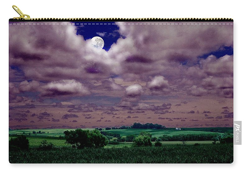 Landscape Carry-all Pouch featuring the photograph Tarkio Moon by Steve Karol