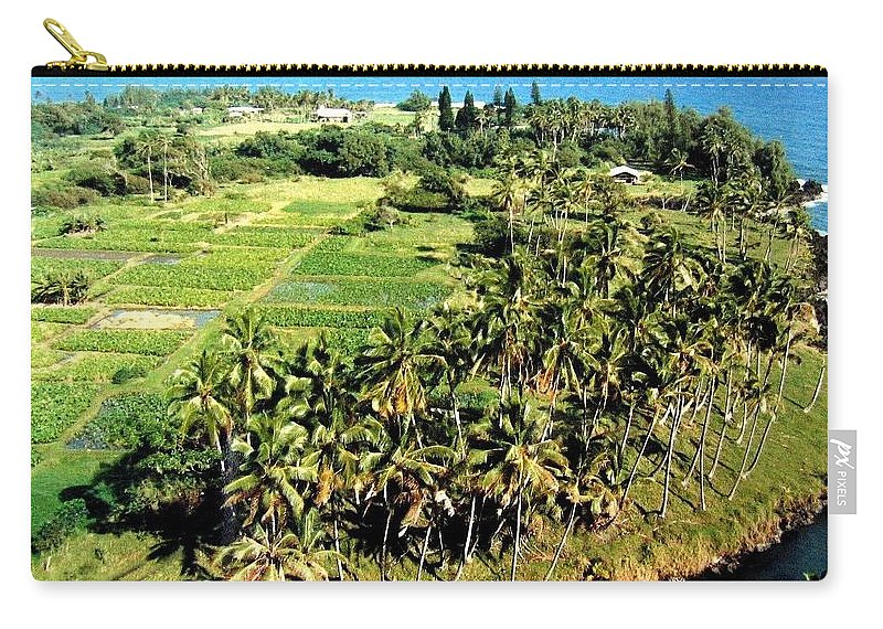 1986 Carry-all Pouch featuring the photograph Taro Fields by Will Borden