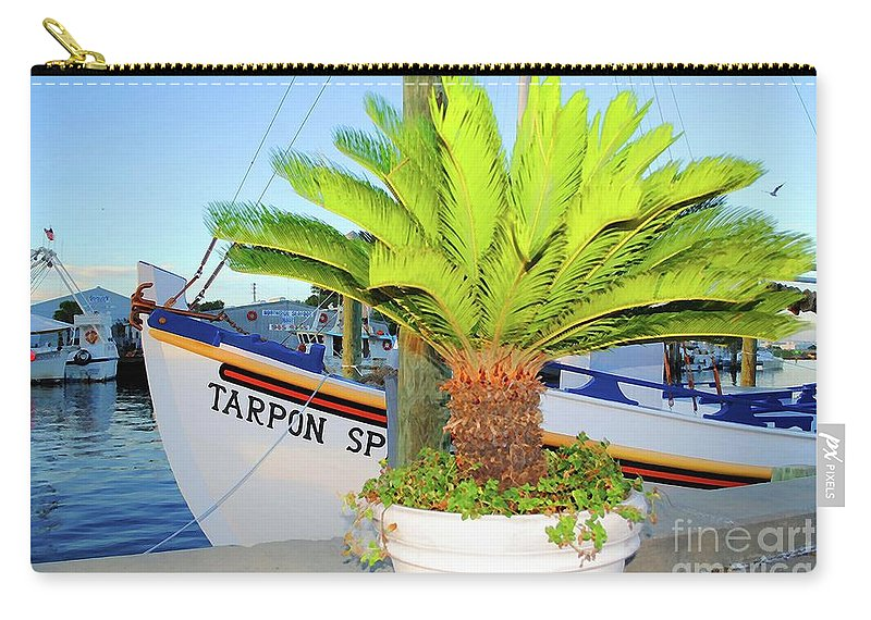 Tarpon Springs Carry-all Pouch featuring the photograph Tarpon         Tarpon Palm                   by Jost Houk