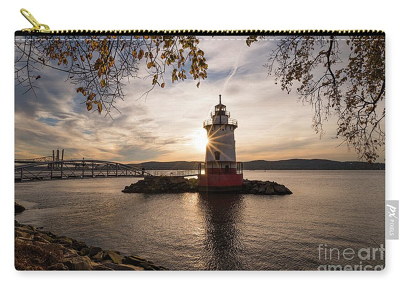 Tarrytown Carry-all Pouch featuring the photograph Tarrytown Lighthouse by Zawhaus Photography