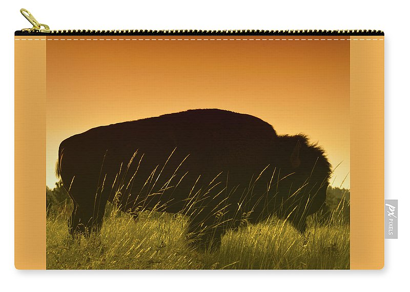 Buffalo Carry-all Pouch featuring the photograph Tatanka by Don Spenner