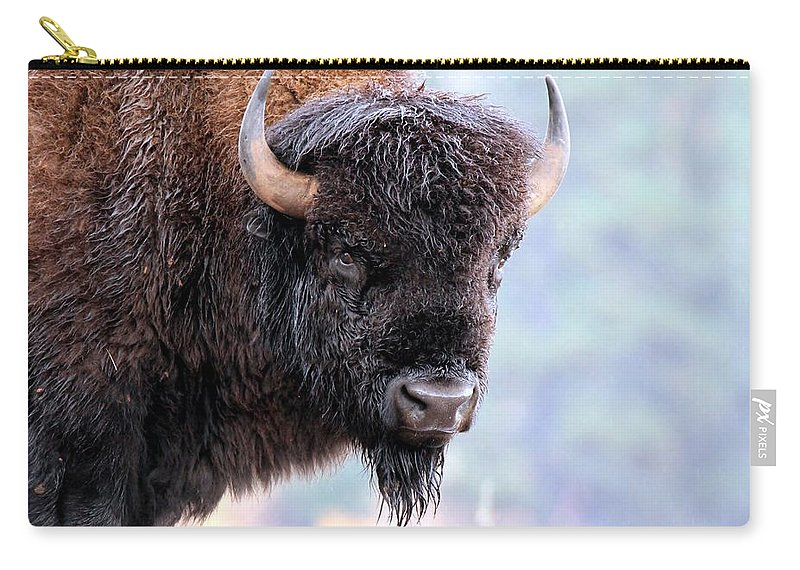 Bison Carry-all Pouch featuring the photograph Tatanka Portrait by Christopher Miles Carter