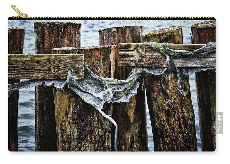 Color Carry-all Pouch featuring the photograph Tattered And Torn by Karen Stahlros