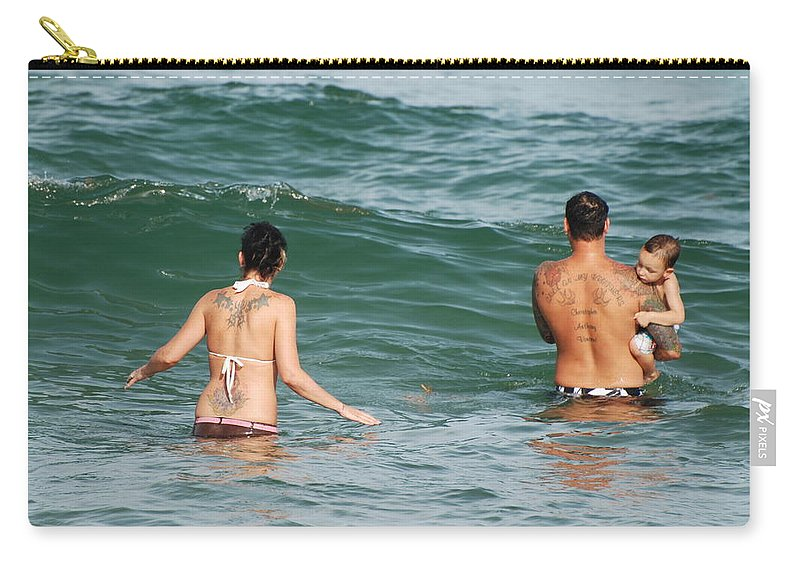 Sea Scape Carry-all Pouch featuring the photograph Tattoo Family by Rob Hans